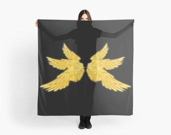 Golden Archangel Wings Scarf, Shawl, Wrap - Supernatural, Gabriel