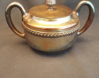 Vintage Reed & Barton Silver Soldered 3000 Sugar Serving Bowl Reed and Barton Silver Plate Silverplate