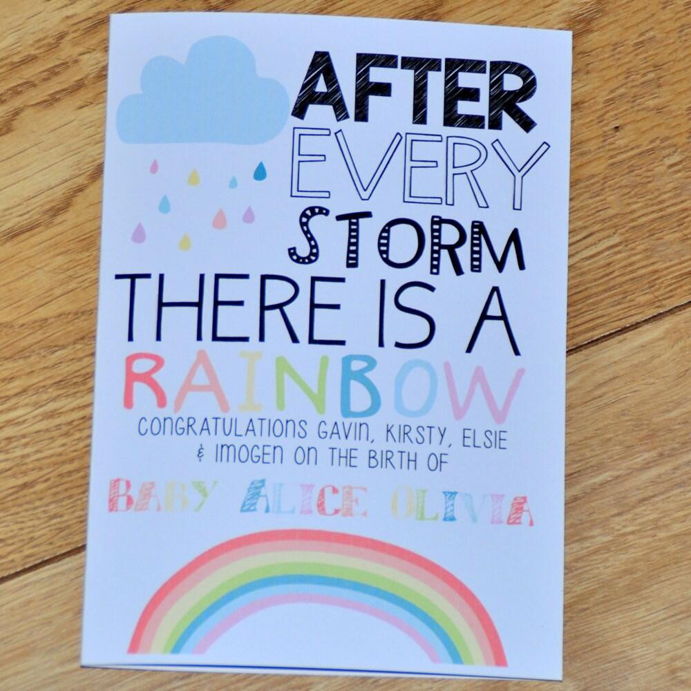Baby loss ornaments - Rainbow Baby Card Baby Loss Card New Baby Card Baby After Loss Card