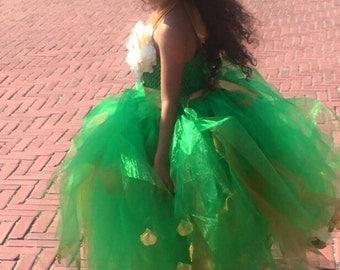 Flower Girl Dress, Emerald Flower Girl, Princess Dress, Special Occasion Dress, Birthday Dress, Photo Shoot Dress, Emerald Green