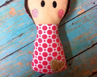 ITH Little Lady Softie - Squeaky - Rattle DIGITAL Embroidery Design