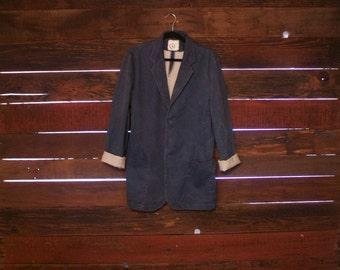 Japanese Blazer Coat Vintage - Blue