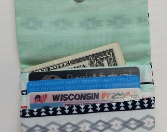 Aztec Print Cash and Card Wallet