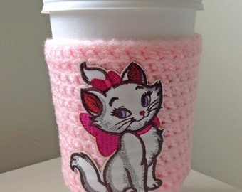 Aristocats Marie Crochet Cup Cozy, Kitten Kitty Cup Cozy, Cat Cup Cozy, Disney Cup Cozy