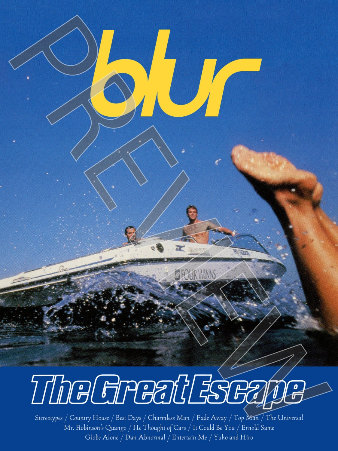 Tshirt Blur: The Great Escape 1995