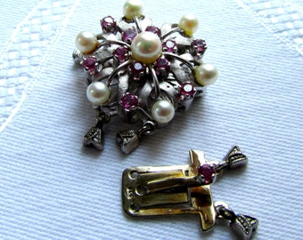 lock for pearl necklace (double)