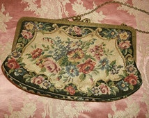 1920's  Petit Point Tapestry Austrian Purse