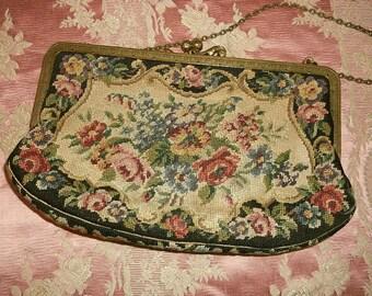 1920's  Petit Point Tapestry Austrian Purse