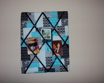 16x20 Black and Turquoise Memory Board 064