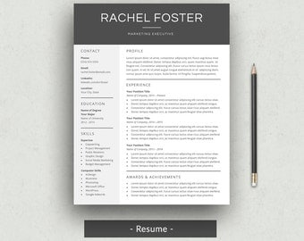professional resume template for word resume cover letter cv template simple resume design - Cover Letter And Resume Format