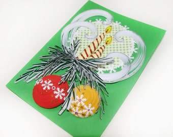 Christmas Quilling Card - Paper Quilling - 100 % Handmade Greeting Card