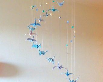 Mobile baby Origami Cranes