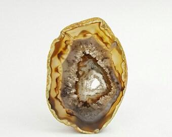 Agate Druzy Slice