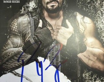 HAND SIGNED - roman reigns - OFFICIAL wwe poster
