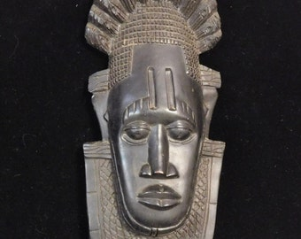 Modern African art mask-- ironwood carving
