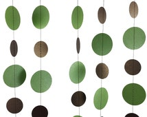 Fern Green and Bronze Garland - Brown and Green Garland, Green and Brown Garland, Pearlized Garland, Natural Earthy Decor - GC032FernBz