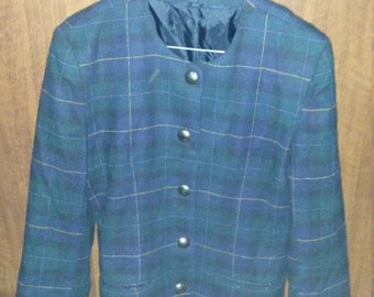 SALE Old school checked blue blazer