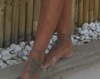 beige Barefoot sandal