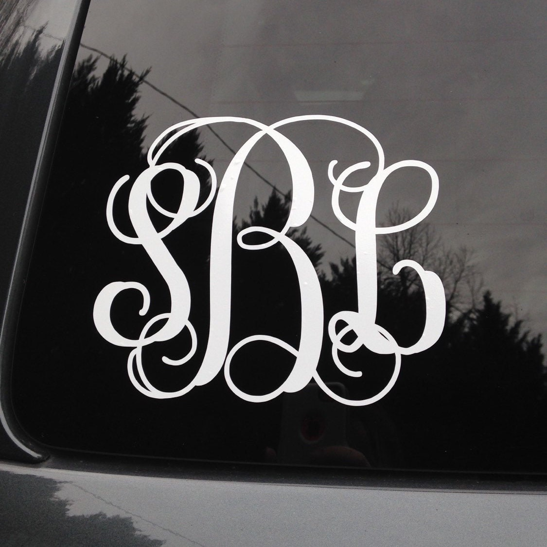 Car sticker maker philippines - Monogram Car Decal Monogram Car Sticker Vine Monogram Car Decal Script Monogram Car Decal Car Decal Car Sticker