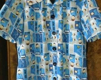 """Star Trek Hawaiian/Rockabilly Shirt 42""""-44"""" chest"""