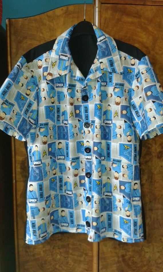Star Trek Hawaiian Rockabilly Shirt 4244 Chest