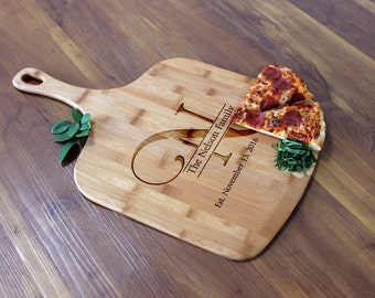 Personalized Pizza Peel, Custom Pizza Peel, Engraved Wood Pizza Peel, Housewarming Gifts, Christmas Gifts, Pizza Lovers --PZ-WOOD-Nelson