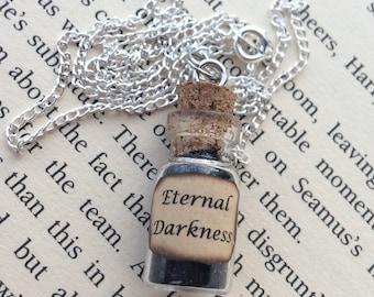 Eternal Darkness Bottle Necklace / Pendant / Bookmark / Decoration / Keyring
