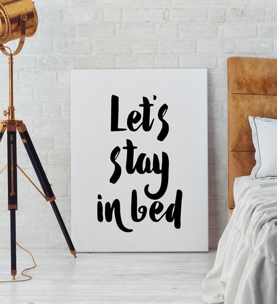 let 39 s stay in bed art bedroom wall art scandinavian