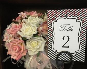 Wedding Table Numbers, Wedding Table Number Cards, Printable Table Number Cards, Table Numbers 1-30