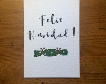 "Hand Drawn ""Feliz Navidad"" Christmas Card"