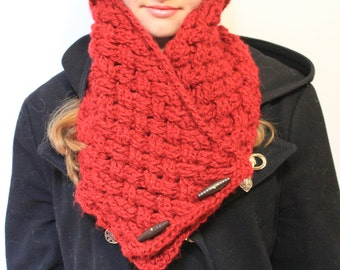 Handmade Crochet Celtic Weave Neck Warmer