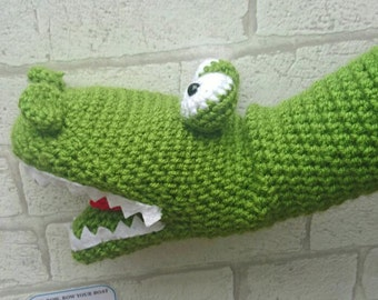 Crochet Crocodile Hand Puppet , crocodile puppet, children's hand puppet, crocodile toy