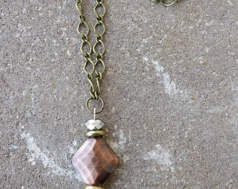Copper & Gold Contrast Necklace