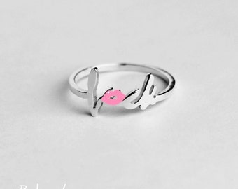 Fuck Ring, Knuckle Ring, Minimal Ring, Midi Rings, Dainty Ring, Simple Ring, Stacking Rings, Rose Gold Ring, Fuck It Ring, Fuck Jewelry