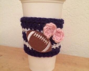 Cowboys Cozy, Coffee Sleeve, Coffee Cozy, Beverage Cozy, Crochet Coffee Sleeve, Mug Cozy, Cup Sleeve, Football, Dallas Cowboys, NFL