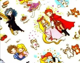 Rapunzel Fairy Tale Kawaii Stickers: Korean Funny Sticker World Fairy Tale Series 7