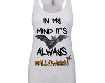In My Mind It's Always Halloween Bat Tank Top