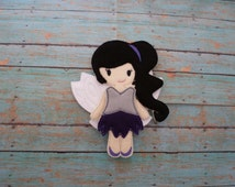 Fast Flying Fairy Dress-up Felt Doll! Option for Personalized Bag! Un Paper Doll Fairies! Quality Embroidery and Applique! Collect All Six!