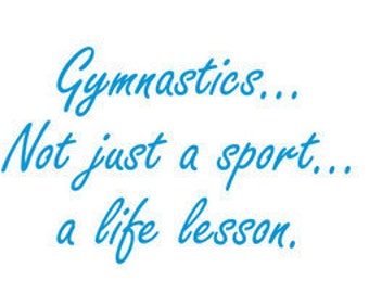 Gymnastics is a life lesson t-shirt
