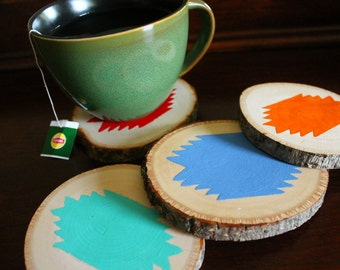 Tribal Southwest Wood Coasters