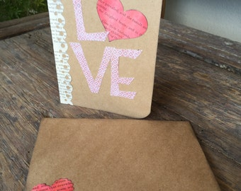 Handmade Love Valentine Card