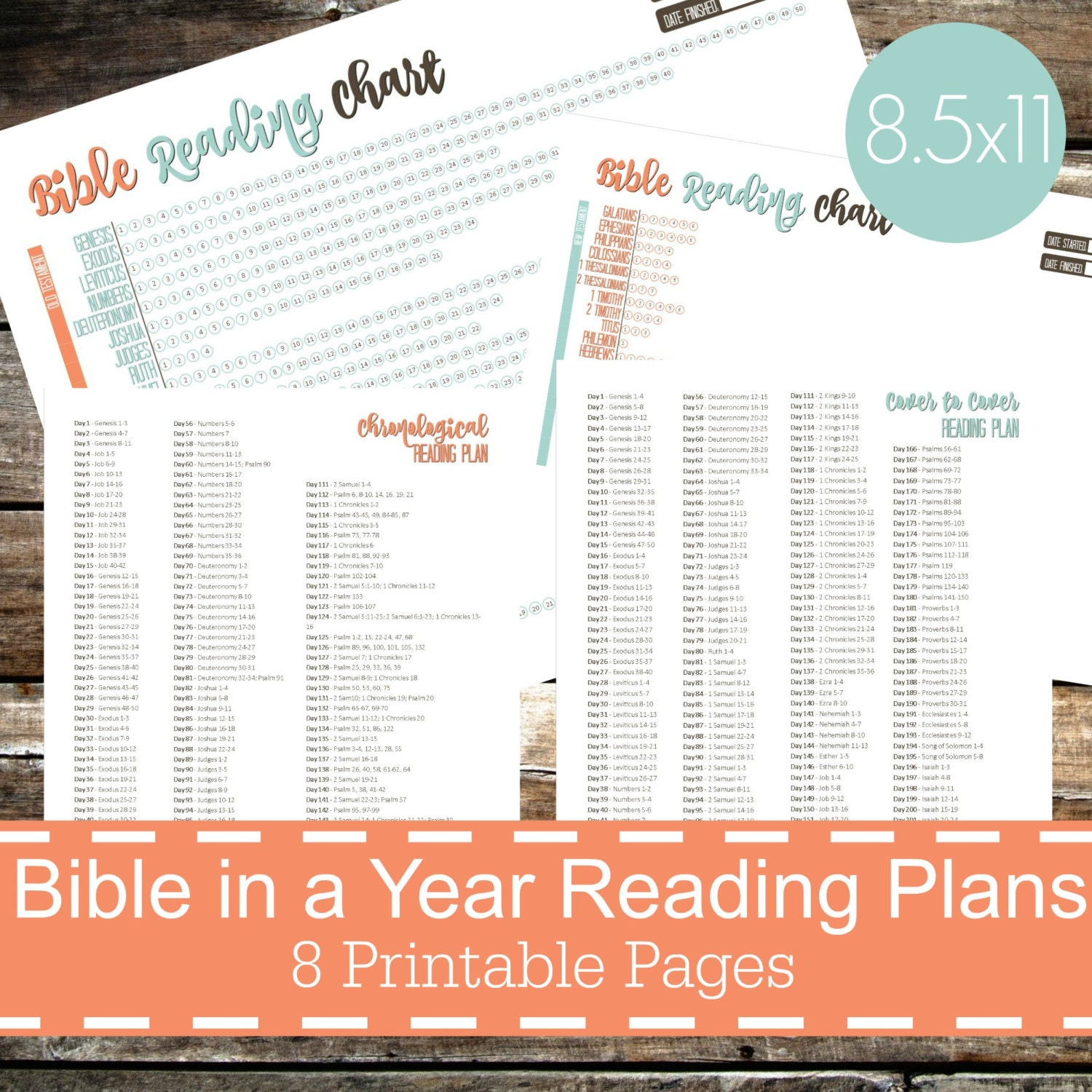 This is a picture of Geeky Printable Bible Reading Plans
