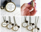 "CUSTOM Bible verse pendant, ""No greater joy do I have...."" 3 John 1v.4, Add children's names, Double sided necklace jewelry"