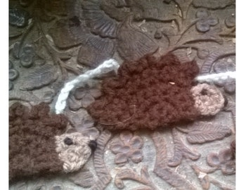 Crochet hedgehog bunting