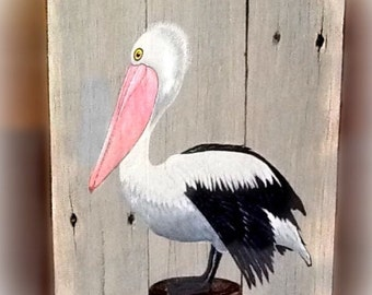 Pelican on post.