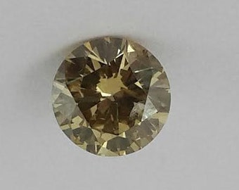 0.81 ct  Vivid yellow diamond,rare color