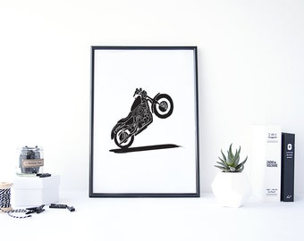 hot rod drawing etsy. Black Bedroom Furniture Sets. Home Design Ideas