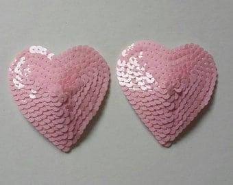 Heart nipple pasties, nipple tassels, burlesque costume, lingerie accessories, strip tease outfit