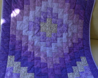 Sale! Purple Baby Quilt