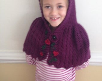 Hand made Little Red Riding Hood cape